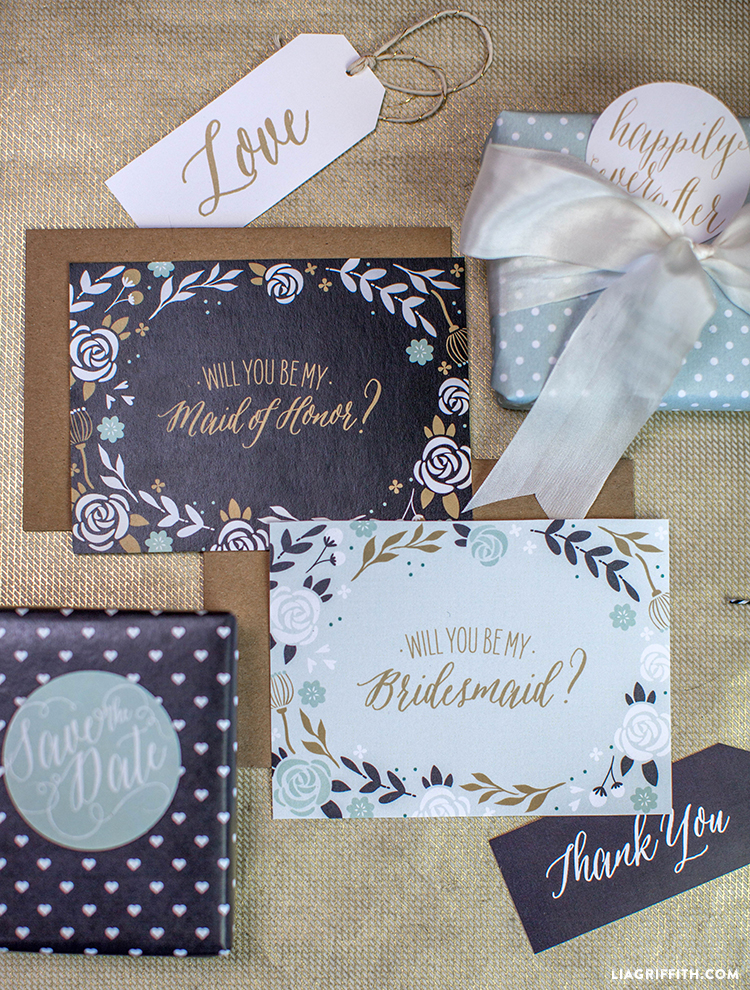 LIA GRIFFITH: DFW Wedding Venue - The Empire Room | Top Note Cards for asking your bridesmaids