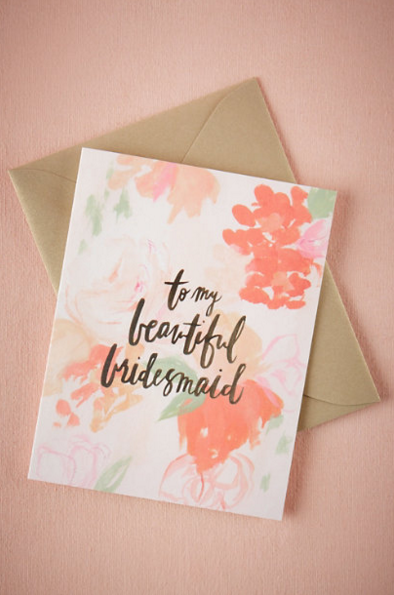 BHLDN: DFW Wedding Venue - The Empire Room | Top Note Cards for asking your bridesmaids