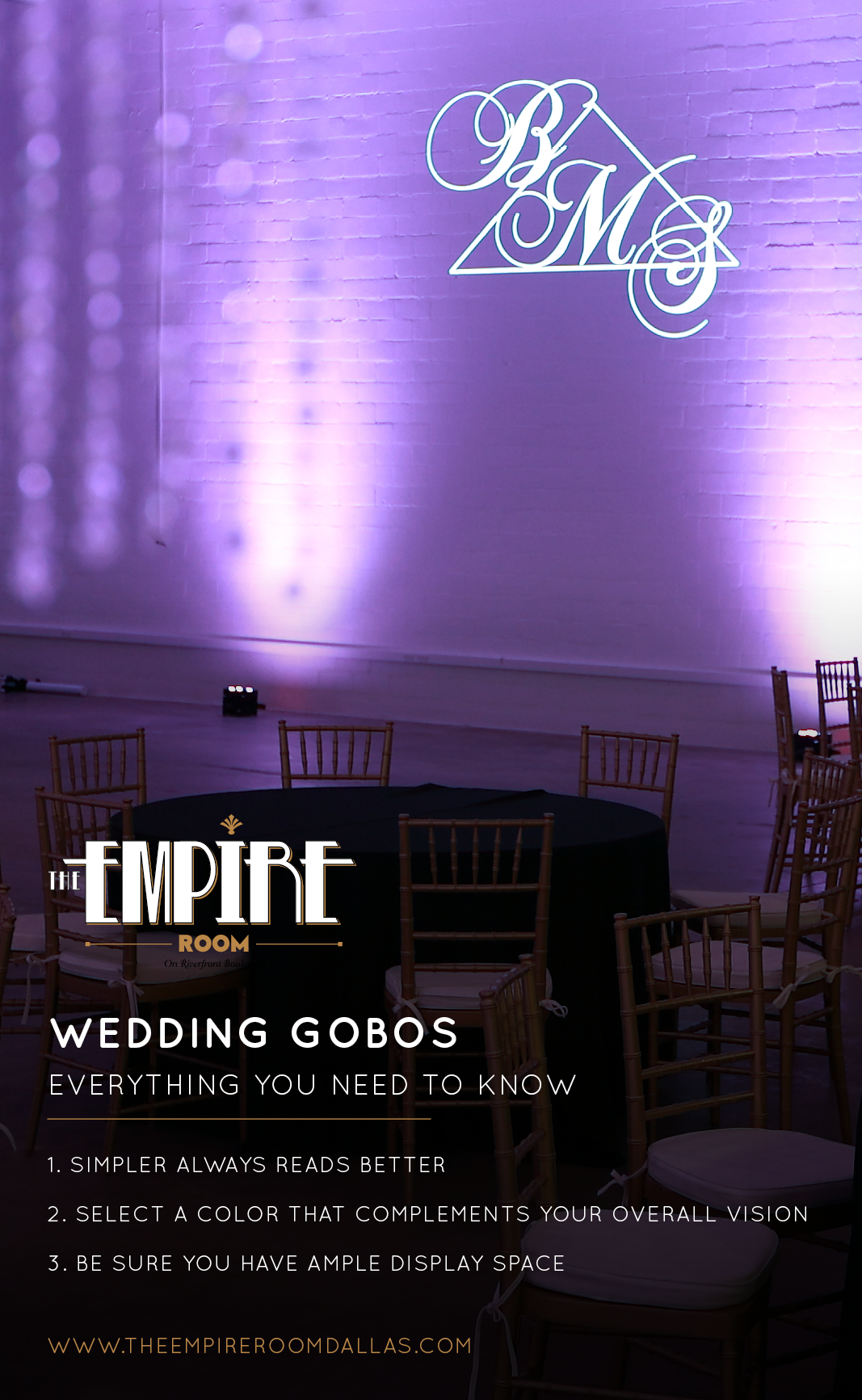 Downtown Dallas Wedding Venue | The Empire Room Dallas