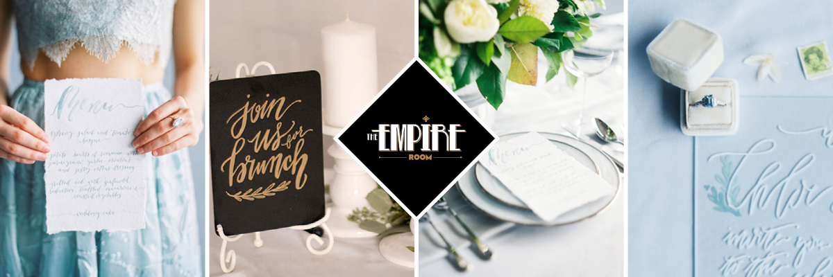 Unique Dallas Wedding Venue | Menu Display Ideas at The Empire Room